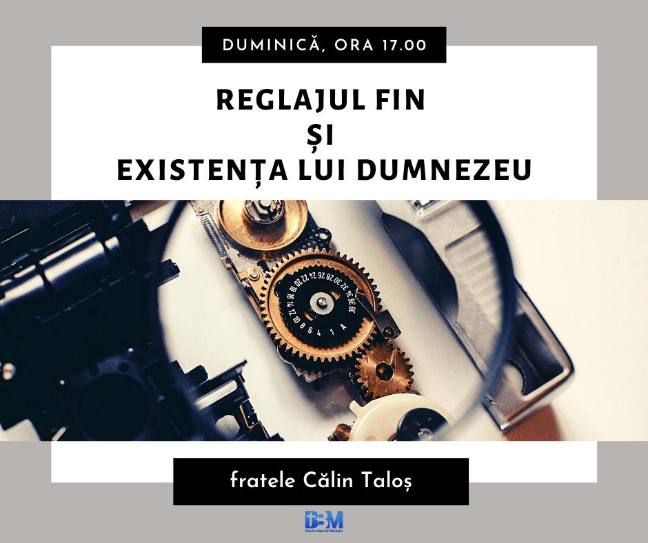Reglajul fin și existența lui Dumnezeu - Călin Taloș